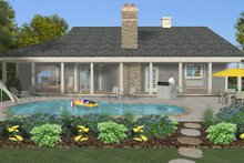 Architectural House Design - Craftsman Exterior - Rear Elevation Plan #56-717