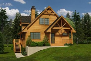 Cottage Exterior - Front Elevation Plan #118-120