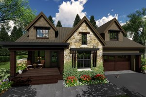 Contemporary Exterior - Front Elevation Plan #51-587
