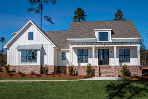 Dream House Plan - Farmhouse Exterior - Front Elevation Plan #430-164