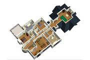 European Style House Plan - 3 Beds 2 Baths 3716 Sq/Ft Plan #25-4707 Floor Plan - Upper Floor Plan