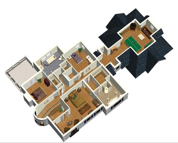 European Floor Plan - Upper Floor Plan Plan #25-4707