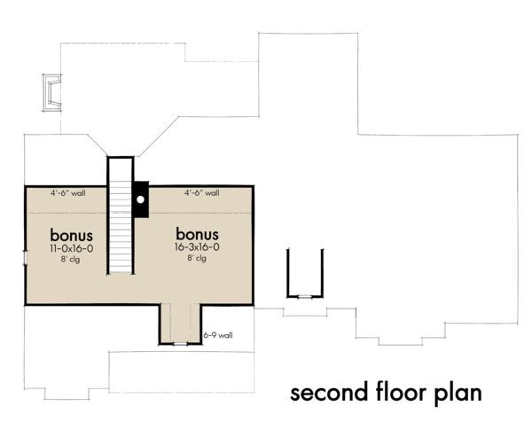 Farmhouse Floor Plan - Upper Floor Plan #120-262