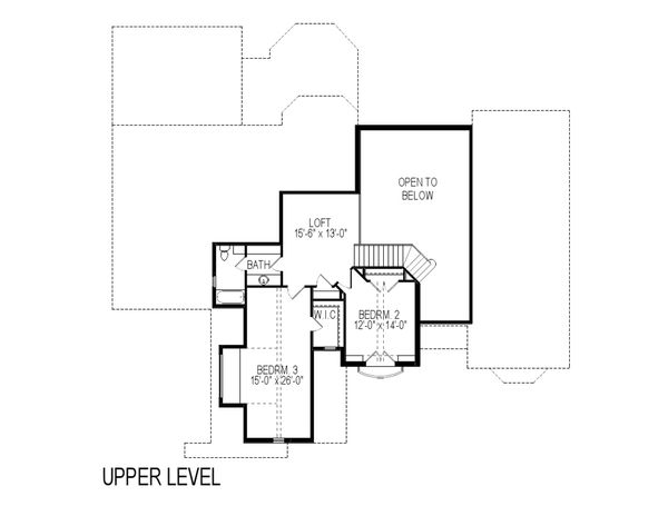 European Floor Plan - Upper Floor Plan Plan #920-12