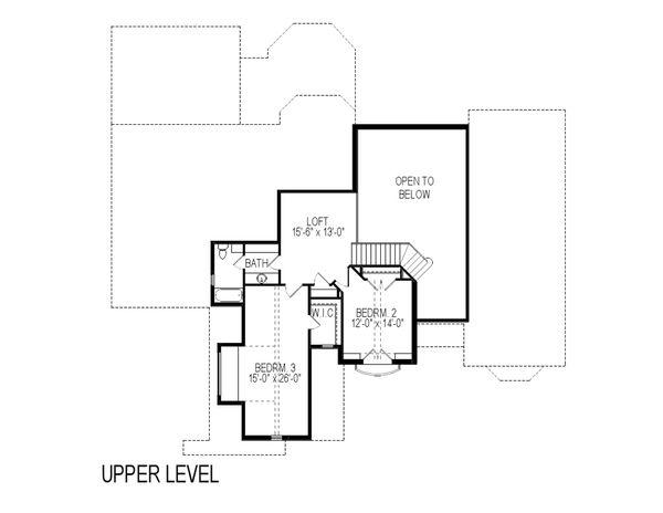 Home Plan - European Floor Plan - Upper Floor Plan #920-12