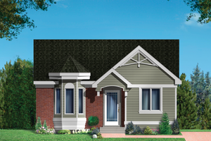 Country Exterior - Front Elevation Plan #25-4870