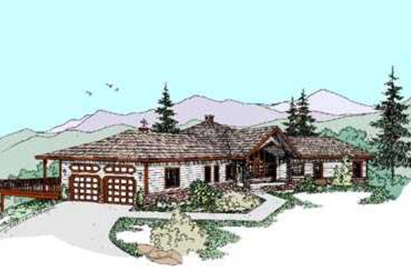Traditional Exterior - Front Elevation Plan #60-469 - Houseplans.com