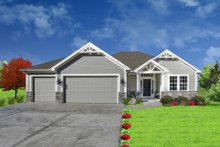 Architectural House Design - Traditional Exterior - Front Elevation Plan #405-328