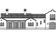 Mediterranean Style House Plan - 3 Beds 2.5 Baths 2056 Sq/Ft Plan #492-1 Exterior - Other Elevation