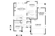 Craftsman Style House Plan - 3 Beds 2.5 Baths 2164 Sq/Ft Plan #48-109 Floor Plan - Main Floor Plan