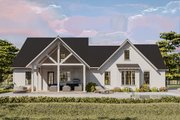 Cottage Style House Plan - 4 Beds 2 Baths 2480 Sq/Ft Plan #406-9656 Exterior - Rear Elevation
