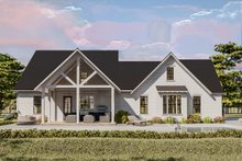 Dream House Plan - Cottage Exterior - Rear Elevation Plan #406-9656