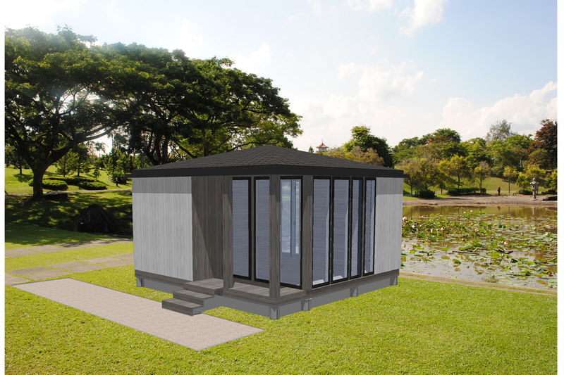 Modern Exterior - Front Elevation Plan #549-10