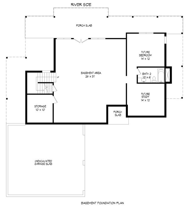 Modern Floor Plan - Lower Floor Plan #932-384