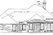 European Style House Plan - 3 Beds 2.5 Baths 2238 Sq/Ft Plan #310-243 Exterior - Rear Elevation