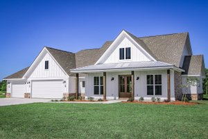 House Blueprint - Farmhouse Exterior - Front Elevation Plan #430-258