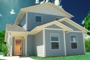 Craftsman Style House Plan - 3 Beds 2 Baths 1264 Sq/Ft Plan #518-6 Exterior - Front Elevation