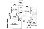 Craftsman Style House Plan - 3 Beds 2.5 Baths 2489 Sq/Ft Plan #124-749 Floor Plan - Main Floor Plan