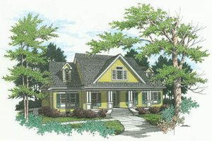 Country Exterior - Front Elevation Plan #45-146