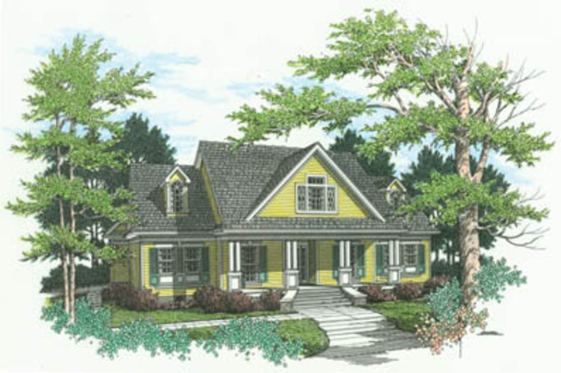 Home Plan - Country Exterior - Front Elevation Plan #45-146