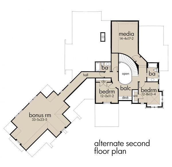 Craftsman Floor Plan - Upper Floor Plan #120-178