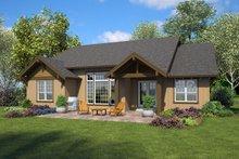 Dream House Plan - Ranch Exterior - Rear Elevation Plan #48-947
