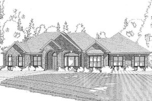 Traditional Exterior - Front Elevation Plan #63-393