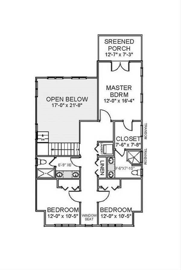Beach Floor Plan - Upper Floor Plan Plan #898-44