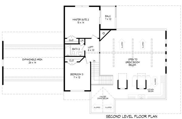 Dream House Plan - Country Floor Plan - Upper Floor Plan #932-145