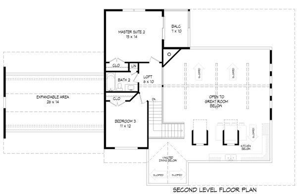 Country Floor Plan - Upper Floor Plan #932-145