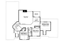 Traditional Floor Plan - Upper Floor Plan Plan #40-260