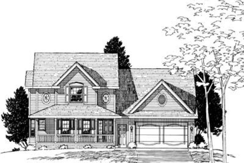 Traditional Exterior - Other Elevation Plan #20-675 - Houseplans.com