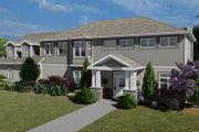 Craftsman Style House Plan - 3 Beds 2.5 Baths 7676 Sq/Ft Plan #1060-53 Exterior - Front Elevation