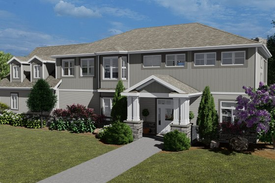 Craftsman Exterior - Front Elevation Plan #1060-53