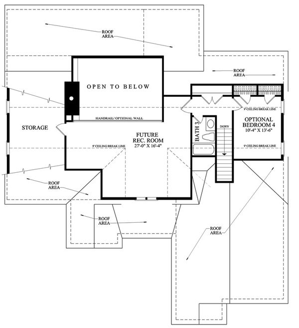 Southern Floor Plan - Upper Floor Plan Plan #137-256