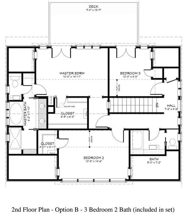 Country Floor Plan - Upper Floor Plan #917-12