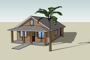 Cottage Exterior - Front Elevation Plan #423-49