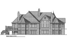 Dream House Plan - Rear View - 6400 square foot European style home