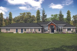 Contemporary Exterior - Front Elevation Plan #124-1127