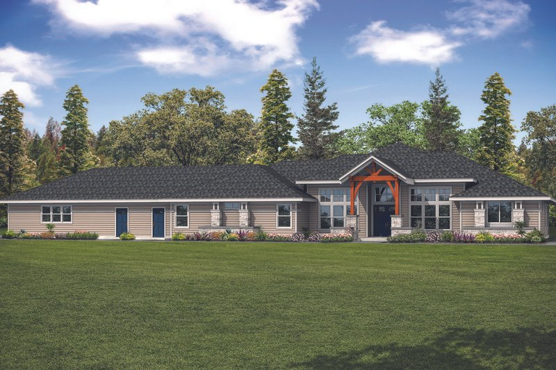 Home Plan - Contemporary Exterior - Front Elevation Plan #124-1127