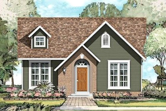 Traditional Exterior - Front Elevation Plan #424-188