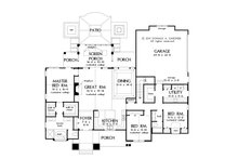 Craftsman Floor Plan - Main Floor Plan Plan #929-14