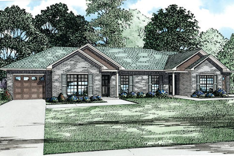 Traditional Style House Plan - 2 Beds 1 Baths 1012 Sq/Ft Plan #17-2430 Exterior - Front Elevation