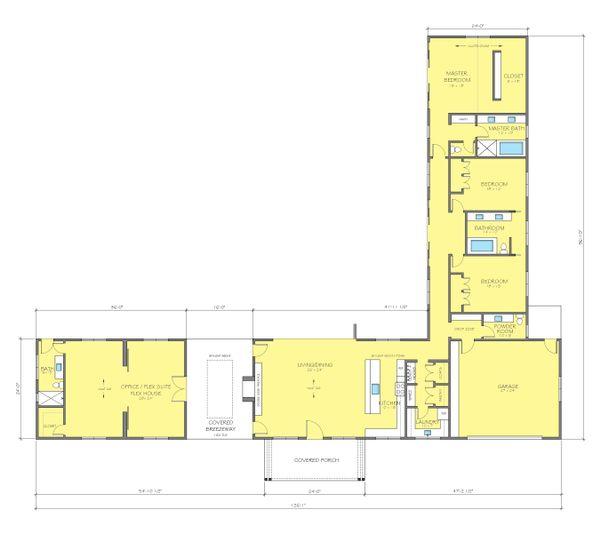 Ranch Floor Plan - Main Floor Plan Plan #888-17