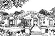 Ranch Style House Plan - 4 Beds 3.5 Baths 2636 Sq/Ft Plan #417-299 Exterior - Front Elevation