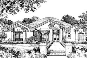 Ranch Exterior - Front Elevation Plan #417-299