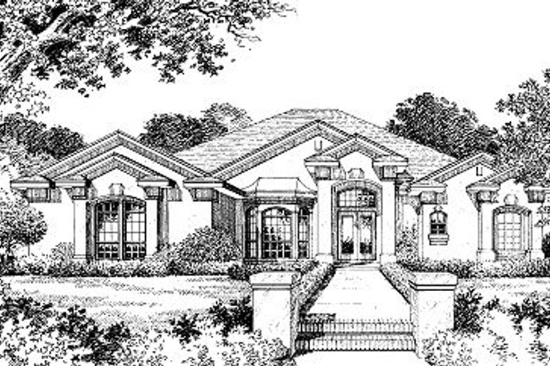 Ranch Style House Plan - 4 Beds 3.5 Baths 2636 Sq/Ft Plan #417-299