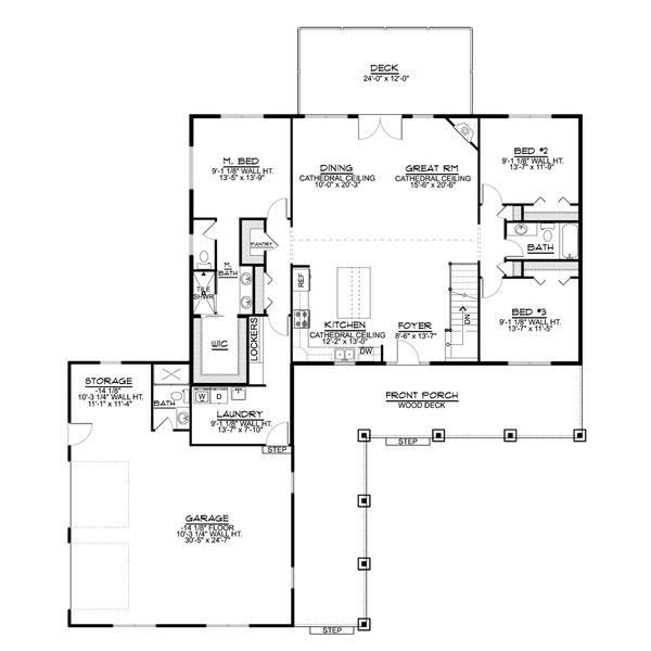 Architectural House Design - Country Floor Plan - Main Floor Plan #1064-94