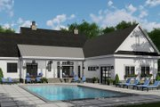 Farmhouse Style House Plan - 4 Beds 4.5 Baths 2743 Sq/Ft Plan #51-1149 Exterior - Rear Elevation