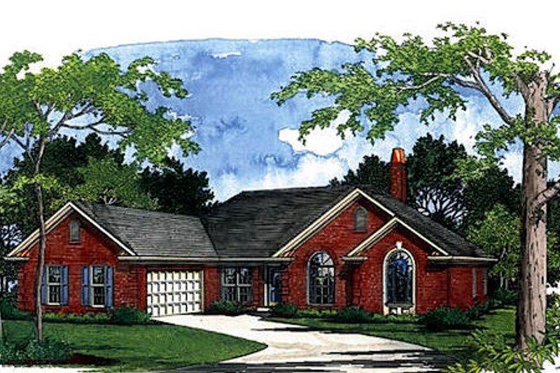 European Exterior - Front Elevation Plan #56-181 - Houseplans.com